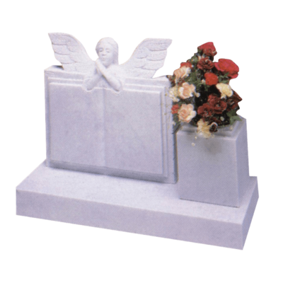 Children's Angel Over Book Headstone