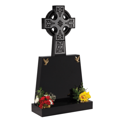 Celtic Wheel Cross Headstone