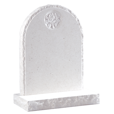Headstone With Carved Rose