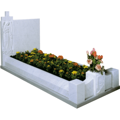 Headstone With Angel & Kerbs