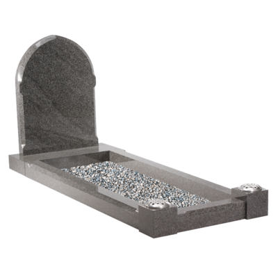 Gothic Style Headstone & Kerbs