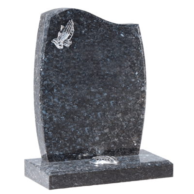Silver Praying Hands Headstone