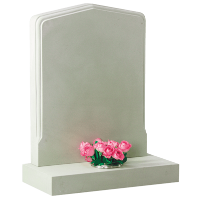 Shaped Headstone With Moulded Profile