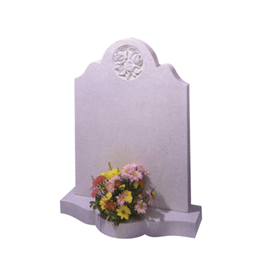 Headstone With Circle Of Roses