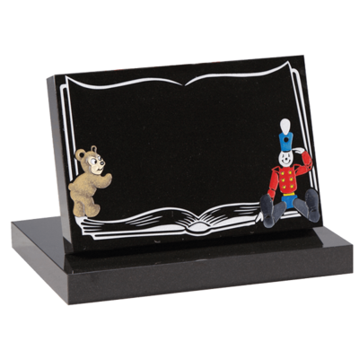 Tablet Headstone, Bear & Soldier Design