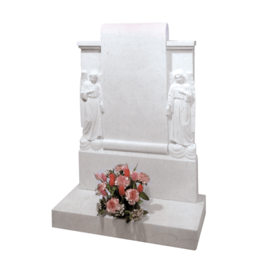 Double Scroll Headstone