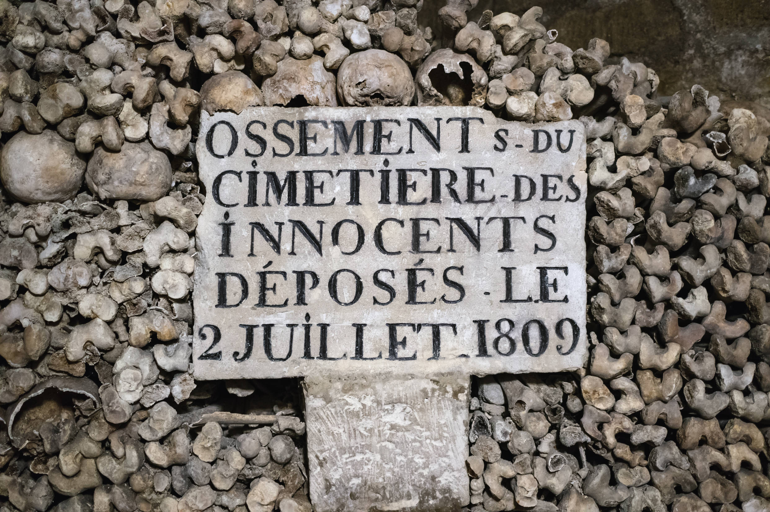 Sign in the Paris Catacombs