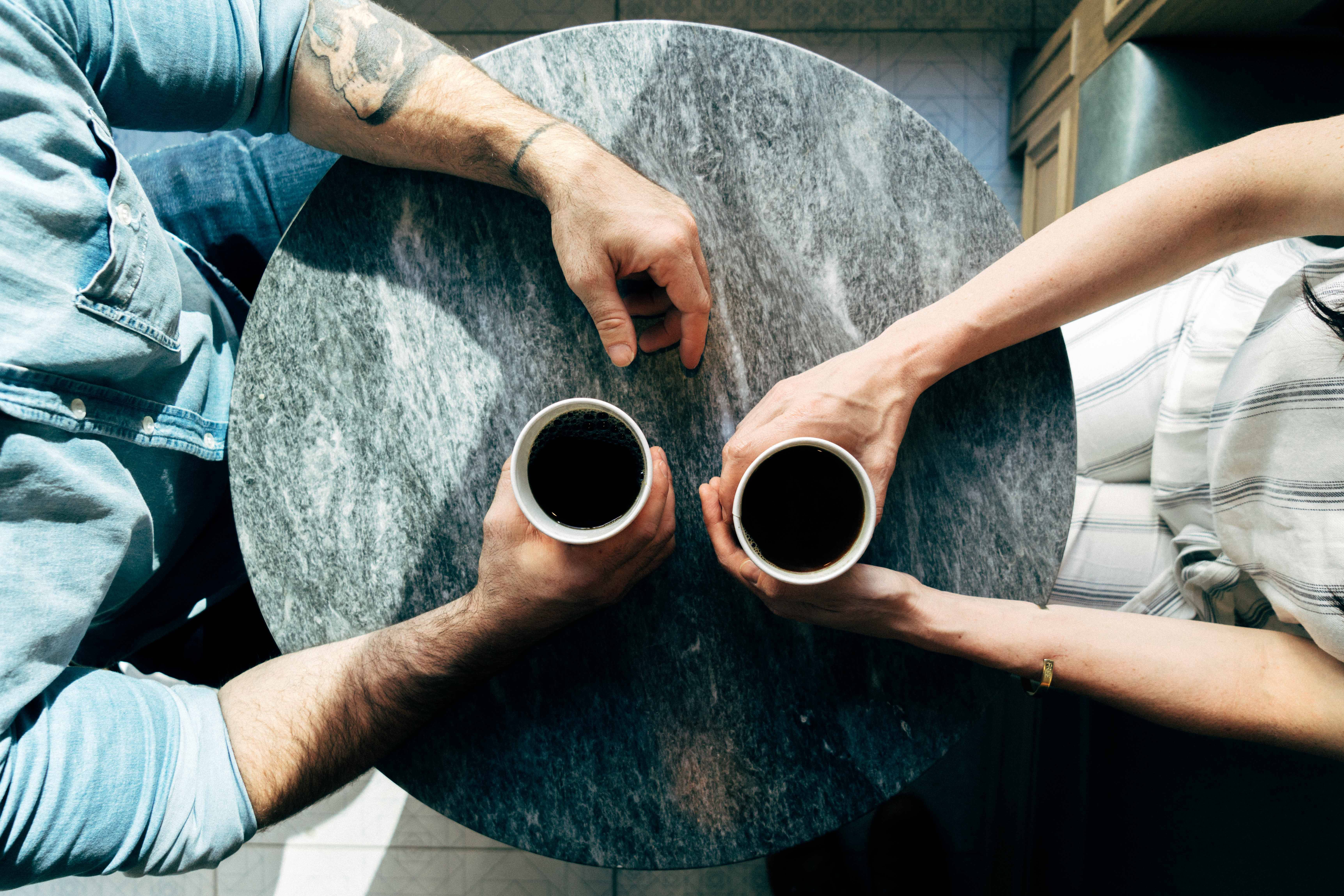 two people having coffee