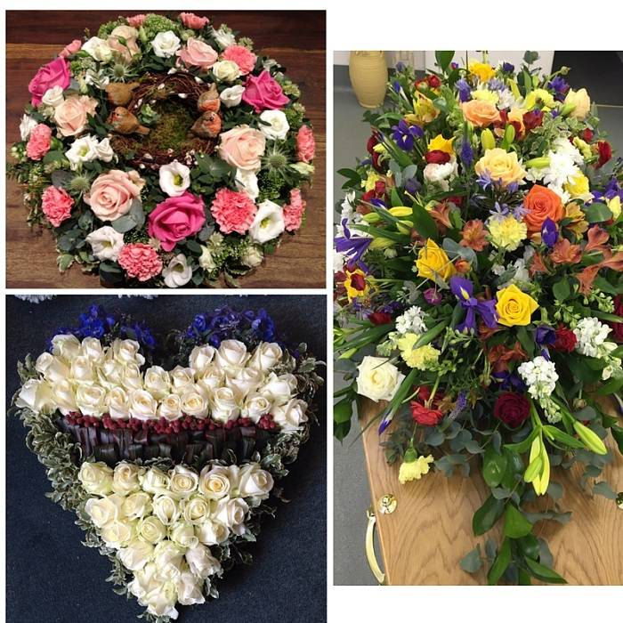 Tolly's Flowers funeral bouquets