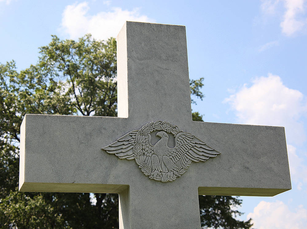 carved eagle on headstone