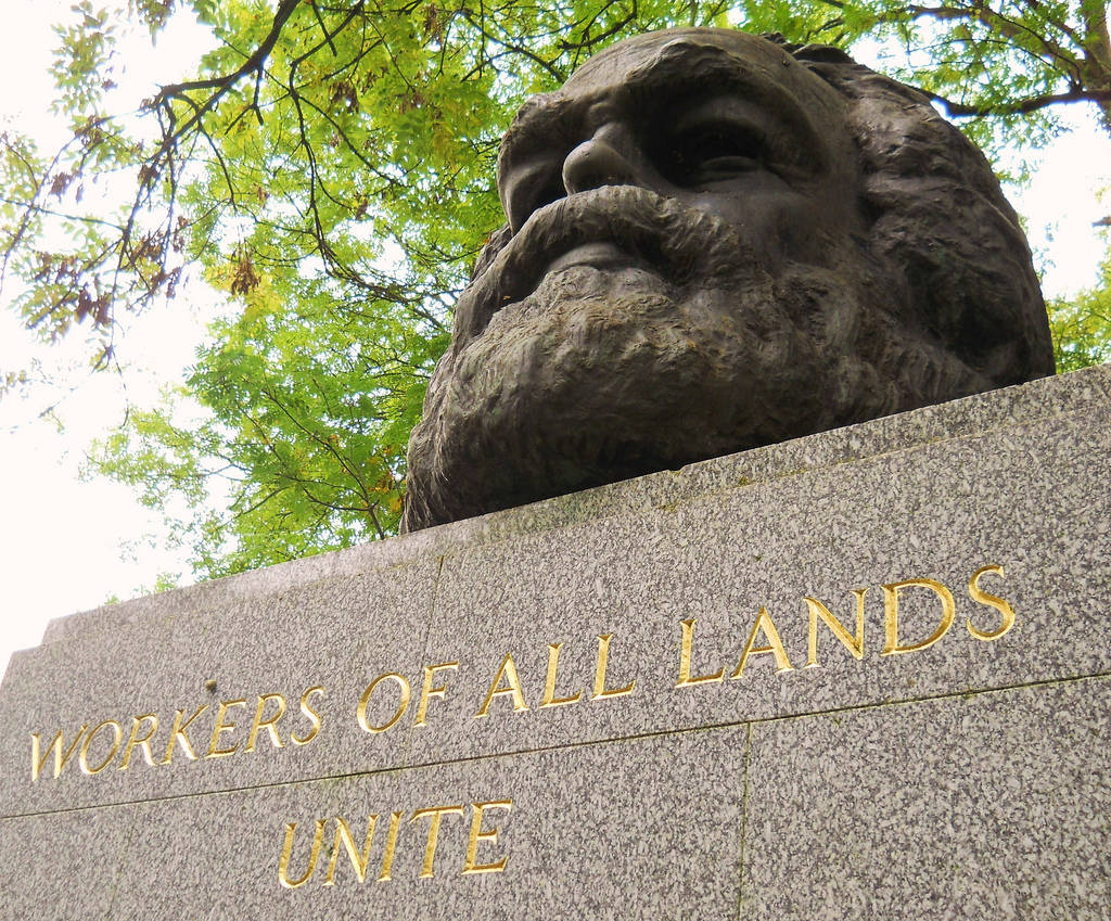 Karl Marx memorial Highgate Cemetery London
