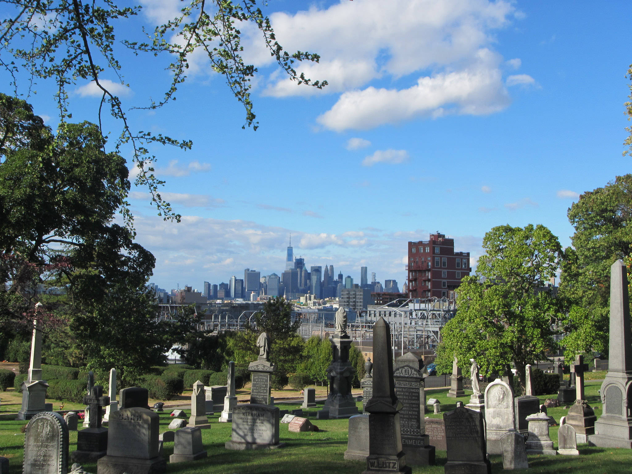 View from Green Wood Cemetery Brooklyn