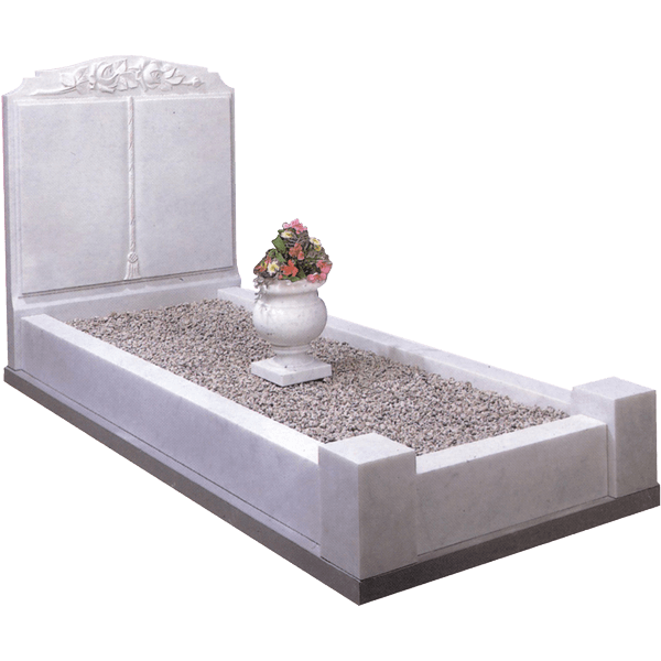 Upright Book Headstone & Kerbs
