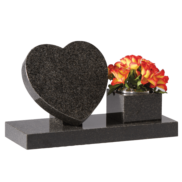 Small Heart, Rest & Base With Vase