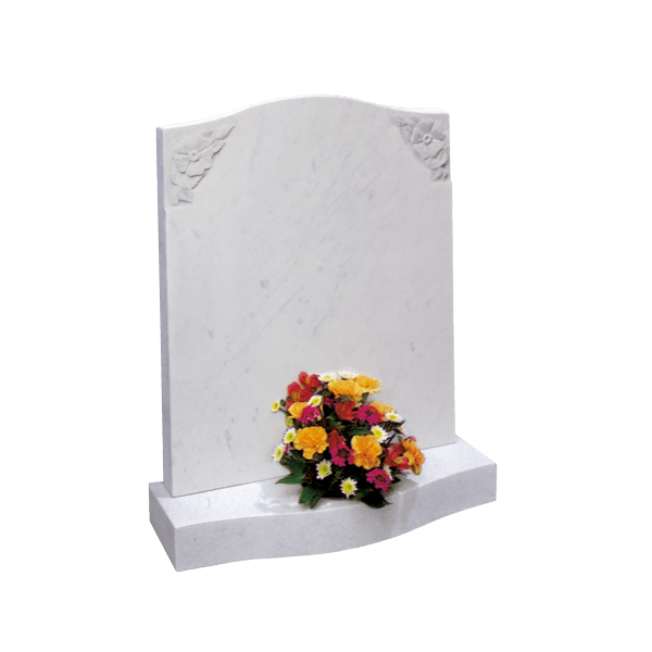 Ogee Top Headstone With Rose