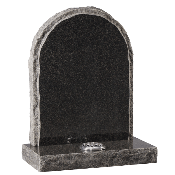 Headstone With Rustic Edge & Margin