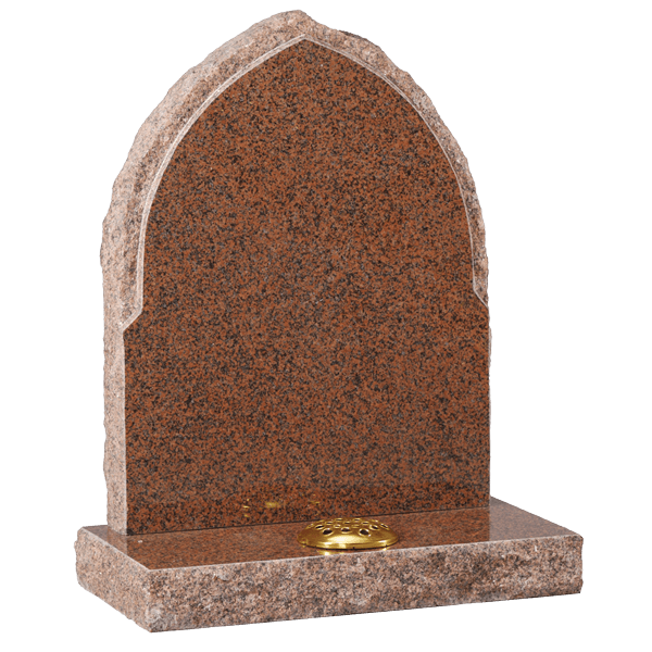 Gothic Headstone With Rustic Edges