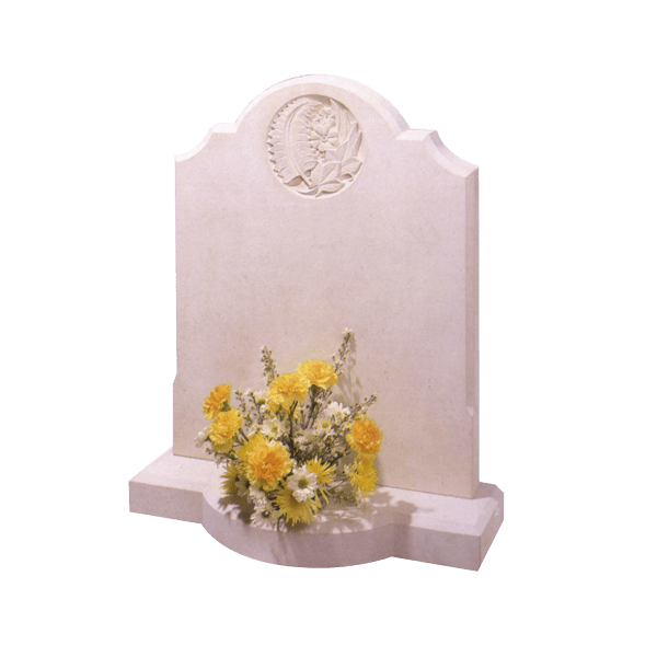 Headstone With Circle Of Flowers