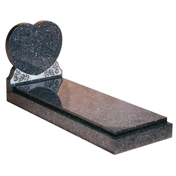 Heart Headstone, Kerbs & Cover Slab