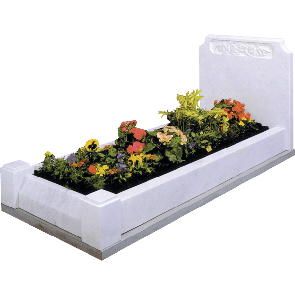 Headstone With Roses & Kerbs