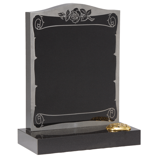 Scroll Face Design Headstone