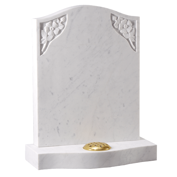 Ogee Headstone With Carved Roses