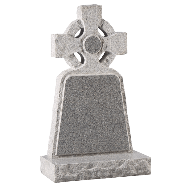 Celtic Wheel Style Cross Headstone