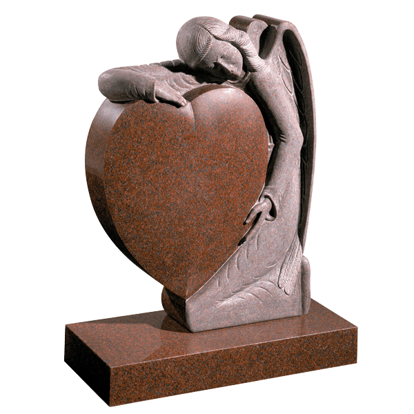Angel Embracing Heart Memorial