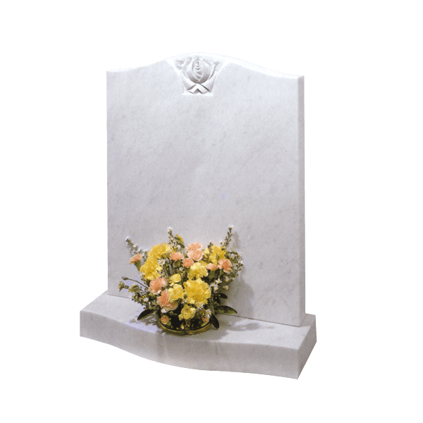 Ogee Shaped Headstone With Rose