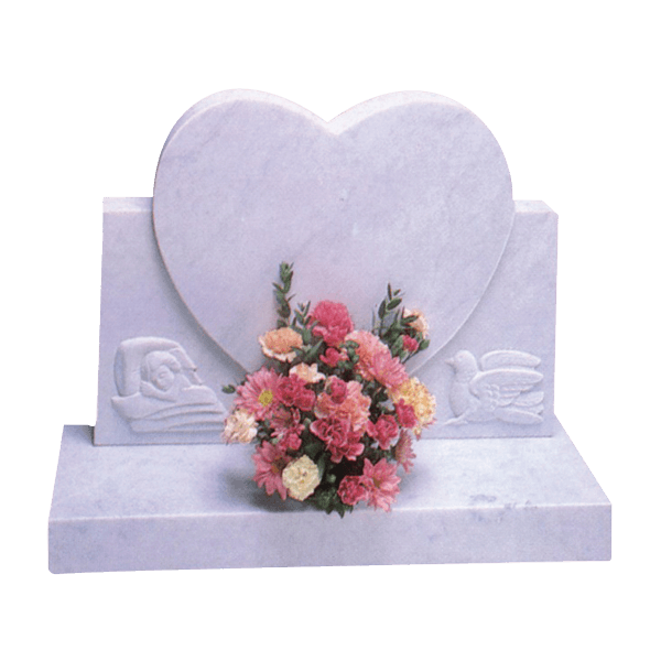 Heart Headstone With Carved Design