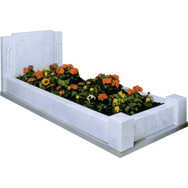 Shaped Headstone & Kerb Surround