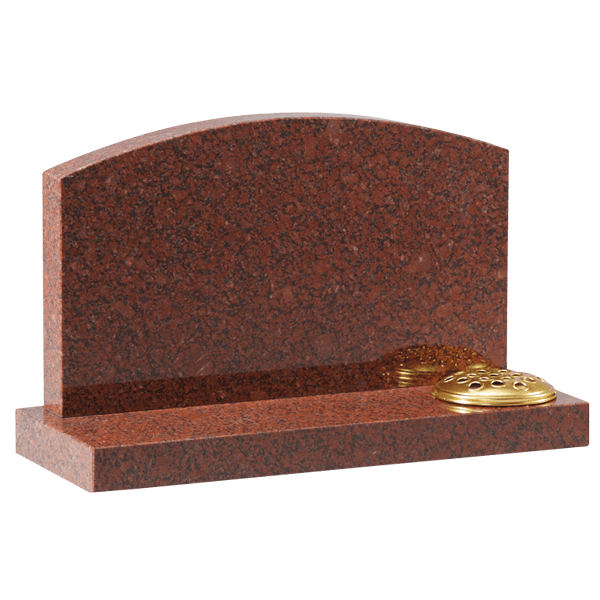 Cremation Oval Headstone & Base