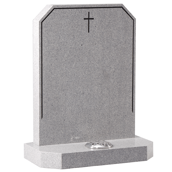 Cross & Pin Line Headstone