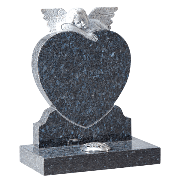 Heart Headstone With Angel
