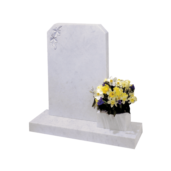 Clipped Corner Headstone
