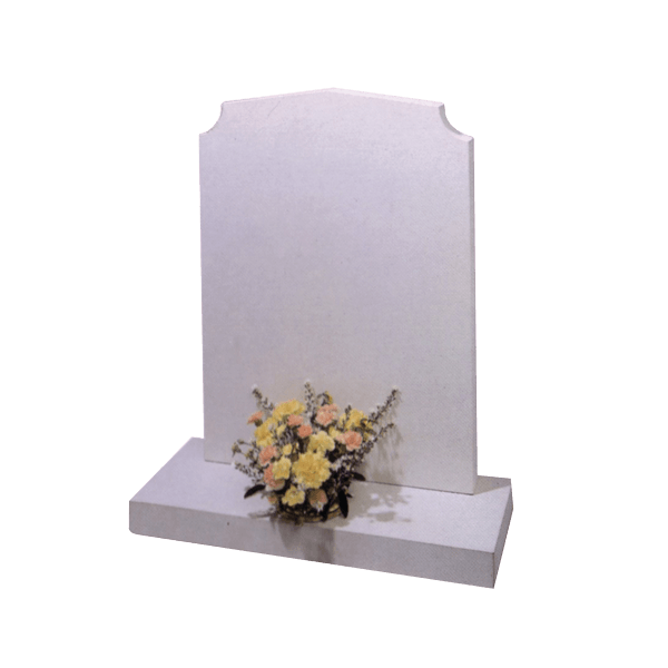 Headstone With Scalloped Corners