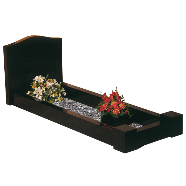 Ogee Headstone Kerb Surround Memorial