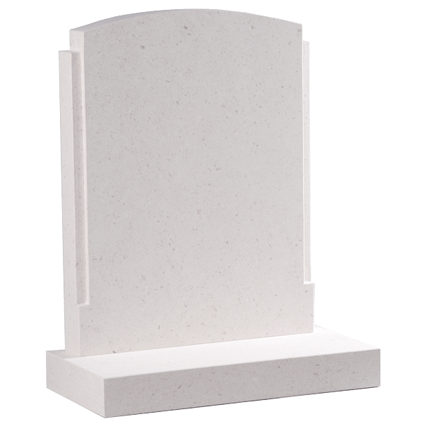 Oval Top Headstone With Shaping